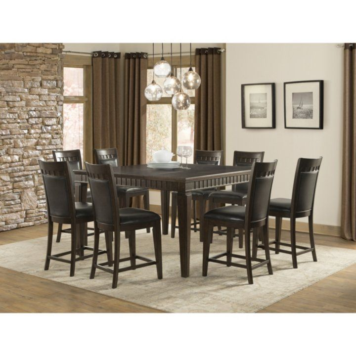 Member S Mark Madison 9 Piece Counter Height Dining Set Detail 1