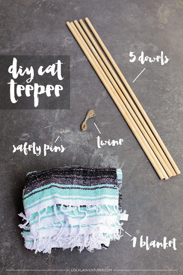 DIY Cat Teepee / DIY Cat Tent.