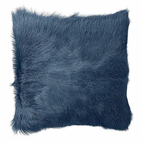 Sierkussen goat skin fur (blauw) - Bloomingville-