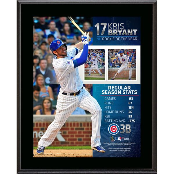 Kris Bryant Chicago Cubs Fanatics Authentic 10.5'' x 13'' 2015 National League Rookie of the Year Sublimated Plaque - $29.99