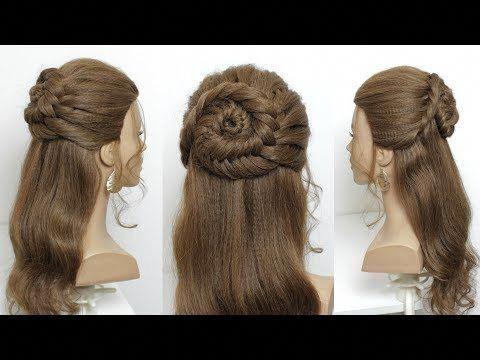 Easy Half Up Half Down Hair Idea Simple Hairstyles Youtube