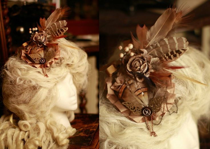 Golden Steampunk Fascinator by IdaLarsenArt.deviantart.com on @deviantART
