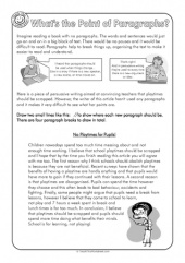 Persuasive Texts - Paragraphs help organise writing and make it easier for readers to see the points you're trying to make.