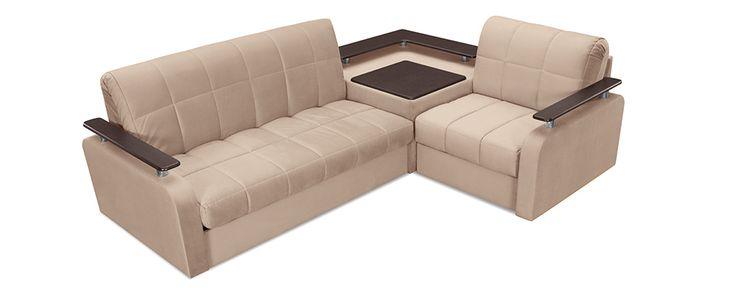 диван уголок со встроенным столиком