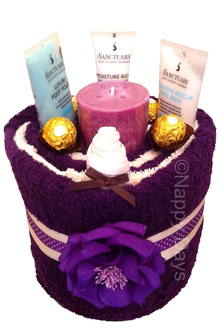 Brown Themed Pamper Cake Sanctuary Spa Relaxation