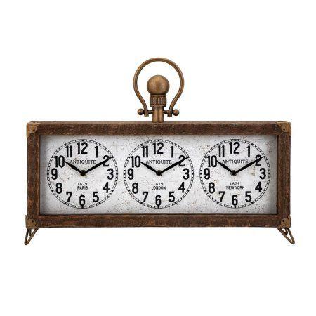Westville Clock With Hanger Brown Benzara Tabletop Clocks