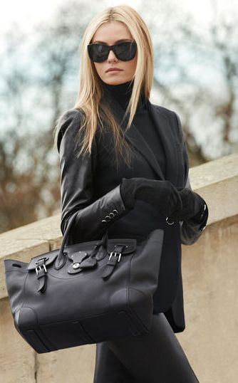 Black Leather by Ralph Lauren