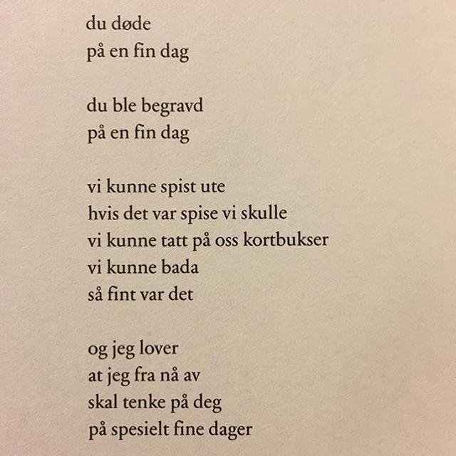 Av Nils-Øivind Haagensen, fra den nydelige samlingen Spredning @forlagetoktober #dikt #poesi #lyrikk #renpoesi #nilsøivindhaagensen