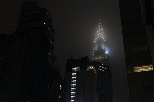 Chrysler In Fog