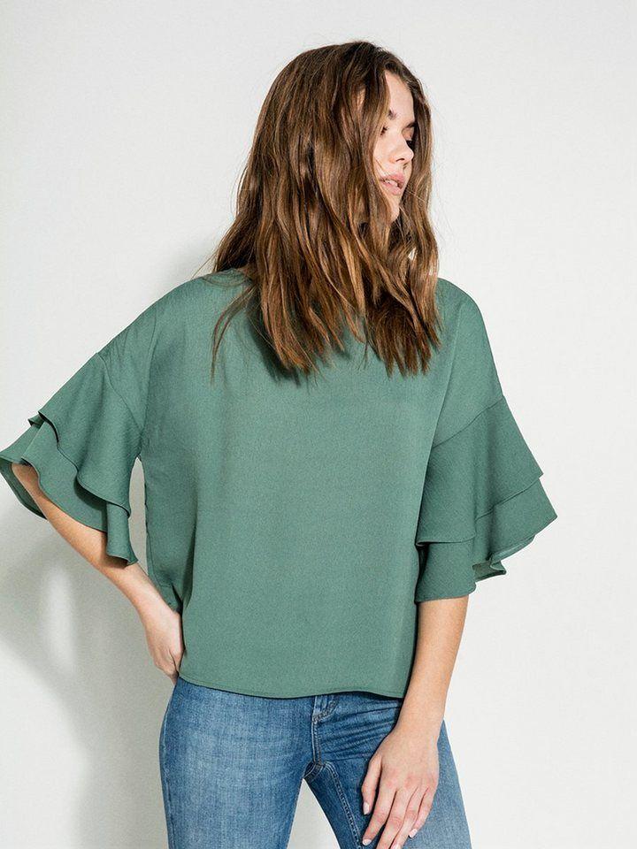 2d3038a699a009 Pieces 2/4-ärmelige Rüschen Bluse   Produktkatalog Fashion @ OTTO ...