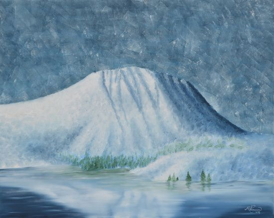 """★ """"SNØ"""" - a piece from the """"Gaustatoppen"""" collection.  FROM $23 - NOW AVAILABLE AT: ★ http://society6.com/ms_thomassen/prints ★   mountains/ nature/ wildlife/ abstract/ blue/ Nordic/ Scandinavian/ interior/ design/art/ oil painting/ illustration/ frame @MS_THOMASSEN"""
