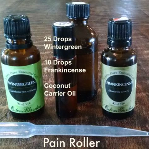 Eden's Garden Essential Oil Pain Roller, plus a few more diy blends to try