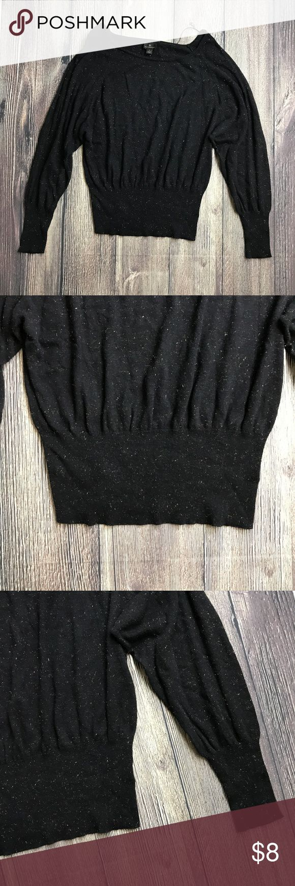 Worthington Sz Large Black & Gold Sparkle Blouse Materials: 51% Cotton, 41% Rayon, 7% Nylon, 1% Other Fibers  Measurements (approximate) in inches. Items are measured laying flat & not stretched.  Length: 23 Underarm to underarm: 19 Worthington Tops Blouses