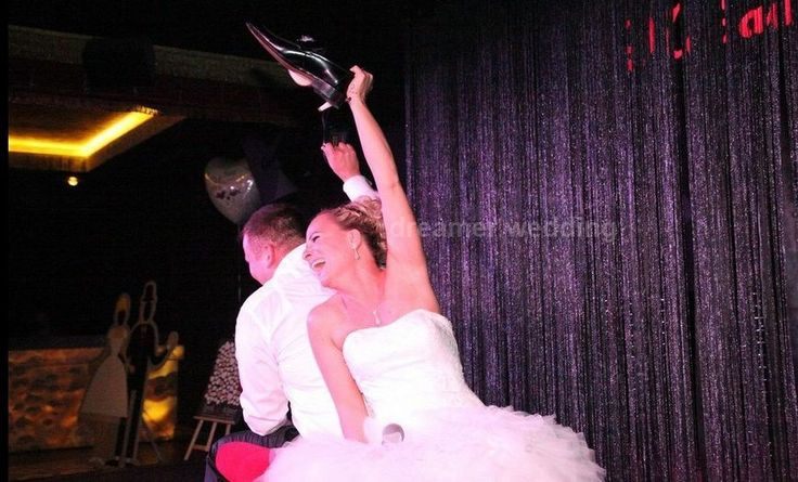 Bride and groom played the shoe game and everyone joined them...