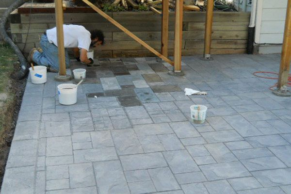 1000 Ideas About Painted Concrete Patios On Pinterest