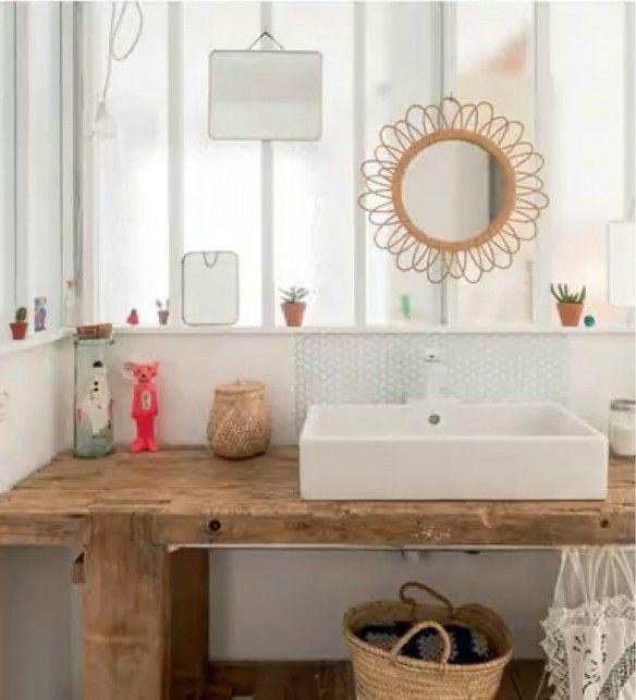 pour idée vasque sur notre meuble en bois de sdb existante?