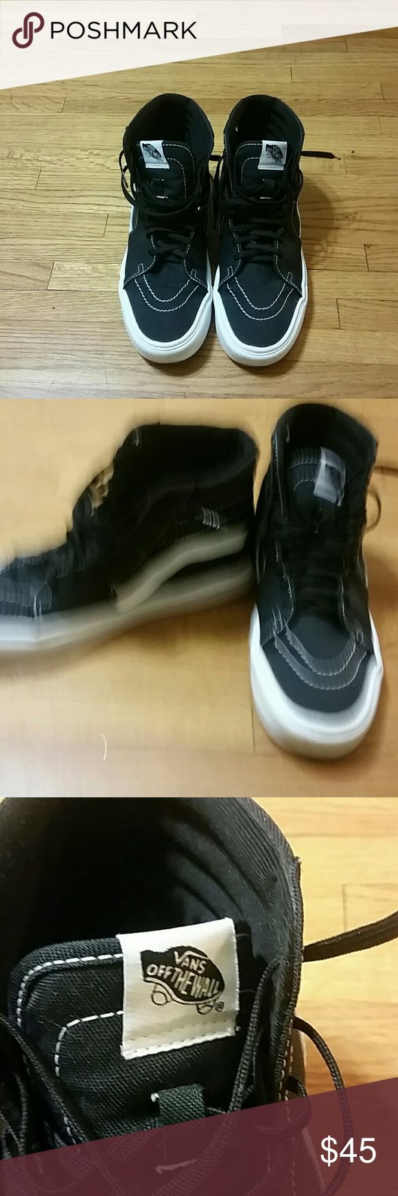 Vans skate high shoes black And white size 9.0 Vans skate hi shoes black and white size 9 great condition Vans Shoes Sneakers