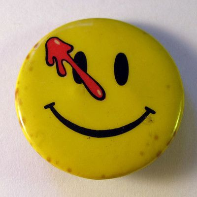 DC Comics Watchmen badge; 1988; BA016 - Badge Archive on eHive