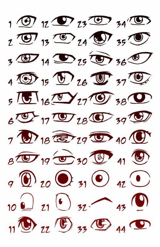 Les différentes façon de faire des yeux manga ^^                                                                                                                                                                                 Plus