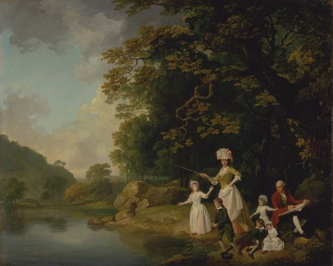 Francis Wheatley, 1747–1801, British, The Browne Family, ca. 1778, Oil on canvas, Yale Center for British Art, Paul Mellon Collection