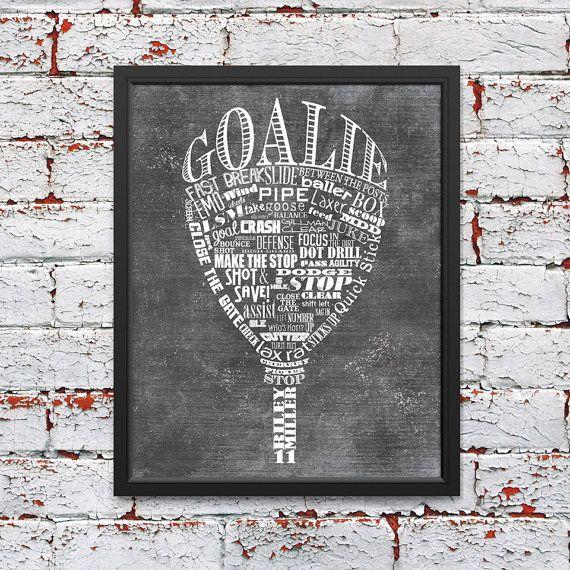 Custom Mens or Womens Lacrosse Goalie by ShaunaSmithDesigns