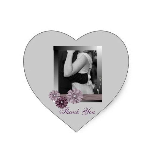 Elegant customizable photo weddingfavor stickers