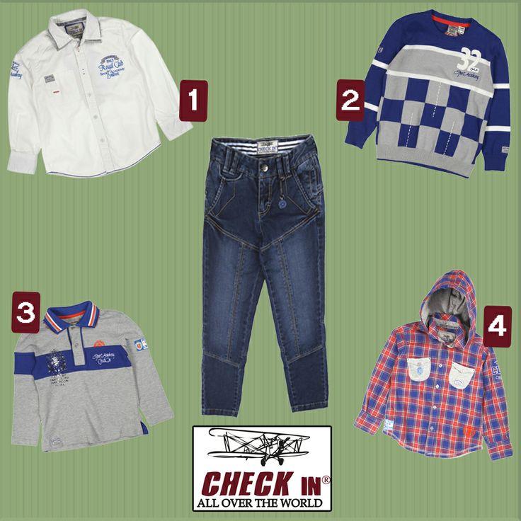 Yakışıklı oğlunuz için Check In Sport Academy temalı bu harika denim ile hangisini kombin edersiniz?