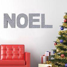 Famiglia Albero di Natale Decorazione in piena GLITTER tradizionale X-MAS parola Message