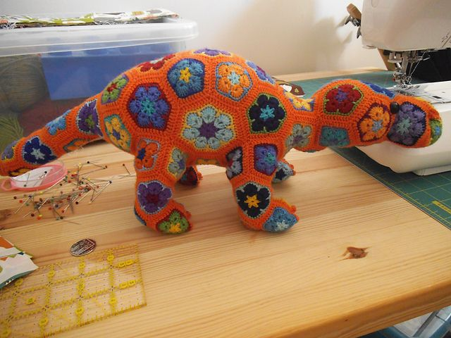 African Flower Crochet Dragon Pattern : Ravelry: meekkos Smaug the African Flower Dragon ...
