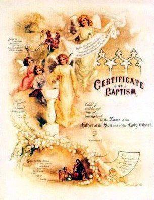 123 best Baptism images on Pinterest Baptism invitations - baptism certificate