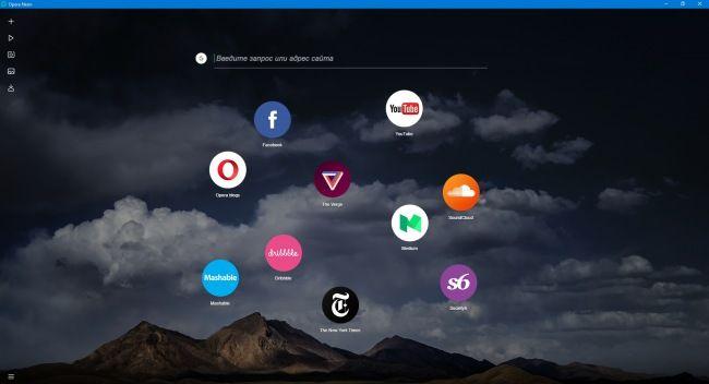 Neon — браузер будущего от Opera