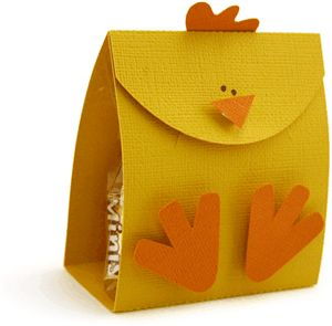 chick treat bag by Pebbles in my Pocket