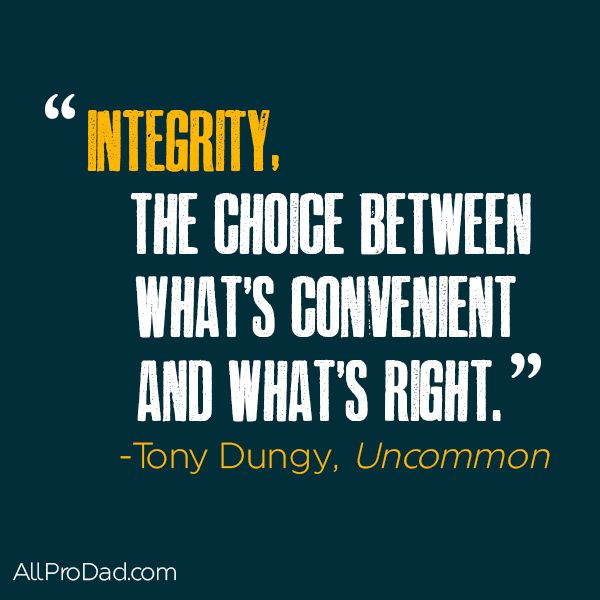 Integrity is what you do when no one is watching; it's doing the right thing all the time, even when it may work to your disadvantage. Integrity is keeping your word. Integrity is that internal compass and rudder that directs you to where you know you should go when everything around you is pulling you in a different direction. Some people think reputation is the same thing as integrity, but they are two different things...