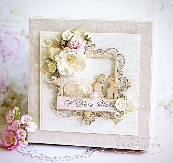 wedding box with chipboards  http://www.hurt.scrap.com.pl/category/pudelka http://www.hurt.scrap.com.pl/category/tekturki
