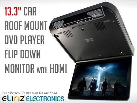 """This 13.3"""" Roof Mount DVD Monitor Multimedia Player can play MP5 and RMVB formats. It comes ..."""