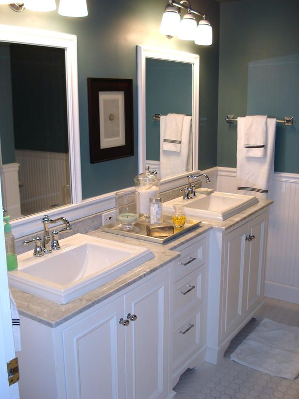 5 must see bathroom transformations - Bathroom Remodel Double Sink