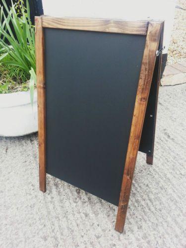 Dark Pine Wooden A-Board Blackboard 70 x 40cm Made in UK from UK wood