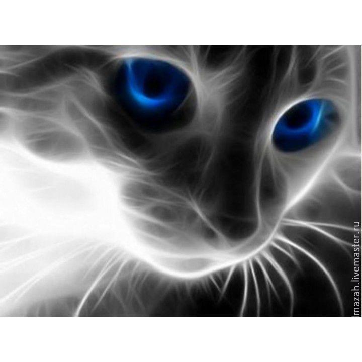 Купить Алмазная вышивка «Кошачий взгляд», 40 х 30 см - алмазная вышивка