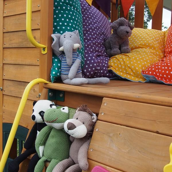 If you are lucky enough to have one of these soft animal toys you will discover beautiful materials, the colour palette of a child's imagination and superior quality that reflects the time taken ensuring every piece is meticulously crafted.