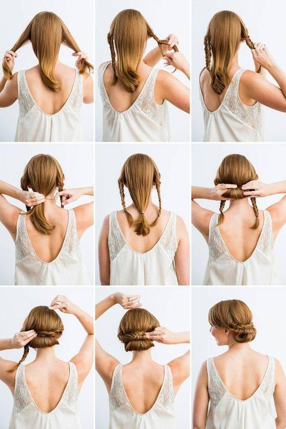Wedding hairstyles for making braids # making # wedding hairstyles #plucking hair and beauty