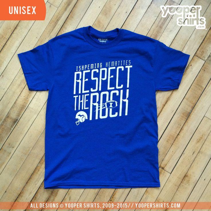 """RESPECT THE ROCK"" Royal Blue T-Shirt"