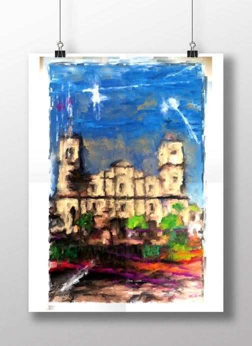 Catedral de sal de Zipaquira propuesta digital cuadro para decoración cualquier tamaño