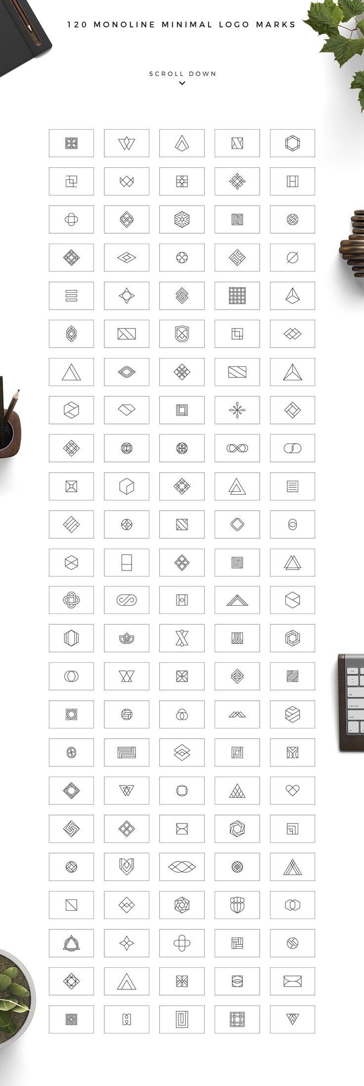 Geometric Logo Pack  by Davide Bassu on @creativemarket