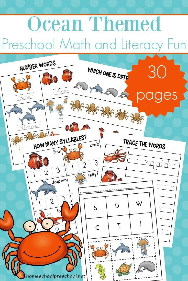 Free Printable Ocean Worksheets for Preschool Ocean