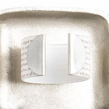 "Novel Capped Cuff - 1.5""  this beautifully capped cuff helps you round out your look, as well as your reading!"