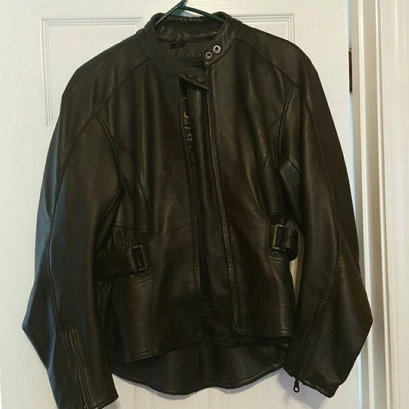Belstaff Womens Black like new Belstaff Jacket with velcro side. Worn once; heavy and durable Belstaff Jackets & Coats