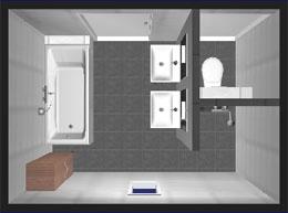 Badezimmer mit separatem WC
