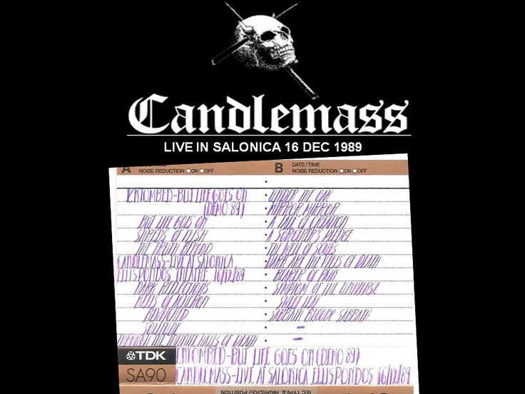 CANDLEMASS LIVE IN SALONICA ELLISPONDOS THEATER 16 12 89