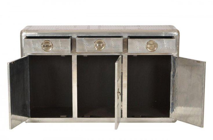 Schön Casa Padrino Art Deco Aluminium Schreibtisch   Vintage Look Flieger Möbel |  Vintage Möbel, Sekretärin Und Koffer