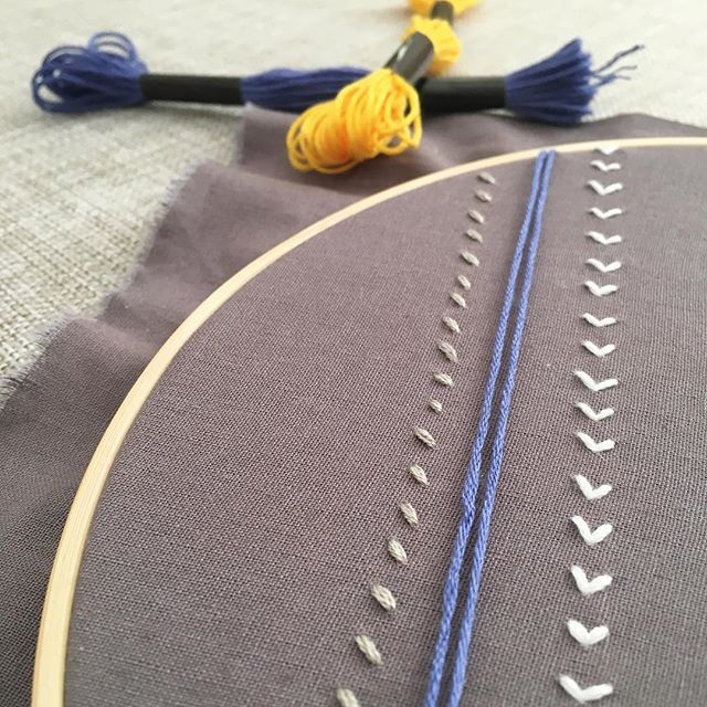 Work in progress #grey #colourpop #handmade #embroidery #hoopart #stitches #thread #pattern #wallart #embroiderydesign